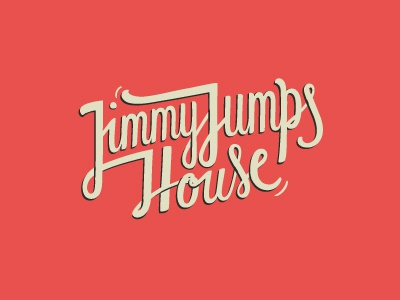 jimmy jumps logo typography type letters design