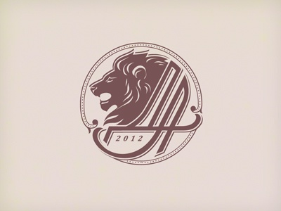 wedding monogram logo monogram wedding lion typography