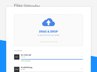#2 - Multiple Files Uploader - UI Concept