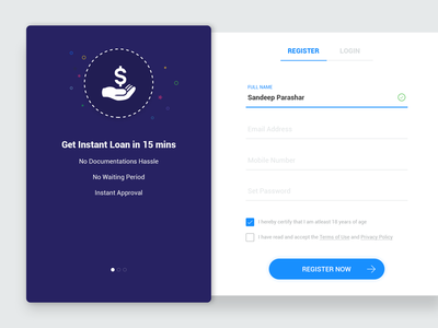 #3 - Registration and Login Material Design - UI Concept material design dribbble layer google dropbox facebook instagram signin signup login register web