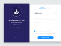 #3 - Registration and Login Material Design - UI Concept