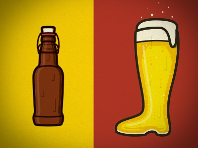Let's Get More Tipsy beer bottle boot illustration glass suds tipsy icon