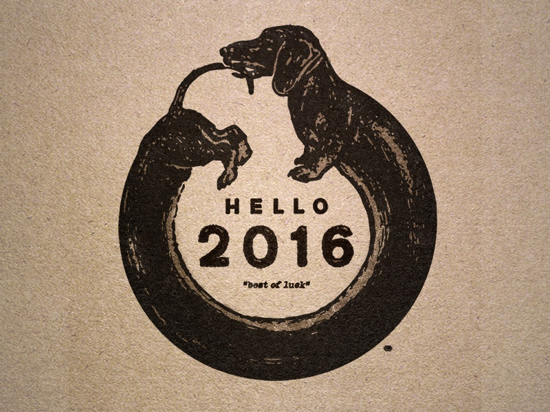 2016 tail ouroboros pup luck vintage 2016 dachshund dog