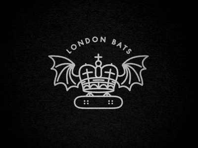 London Bats skateboard crown london bat