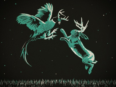 Pheasantalope vs. Jackalope illustration jackalope phesantalope south dakota