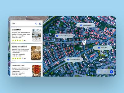 MAP - Daily UI 29 graphic design navigation blue vector brading ui uiux ux daily ui daily ui challenges daily ui 29 design map ui map maps