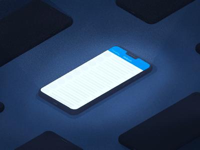 Trending social bitcoin tech texture grain twitter iphone phone digital illustration