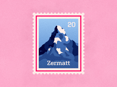 Zermatt | Weekly Warmup dribbbleweeklywarmup mountain matterhorn zermatt stamp vector design illustration warmup