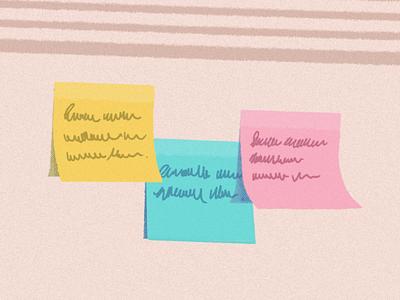 Resolutions halftone handwritten sticky texture 2020 goals notes post-it illustration