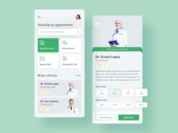 Medical / Doctor App Screen Exploration - Sketch File