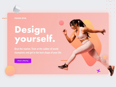Hero Shot Animation - Fitness - Download XD design landing clean layout xd design file free auto animate xd web ui animation fitness shot hero section hero image hero