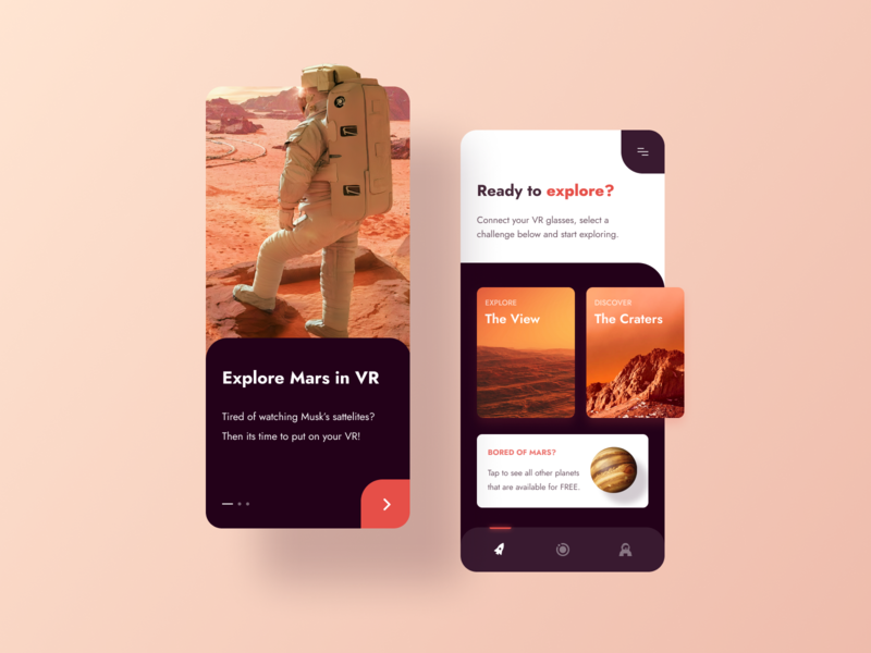 Mars - VR Exploring Space Mobile App