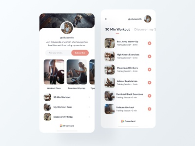 Dreamland  - Link sharing made simple orange mobile design dreamland instagram sharing share sports sport ux page creative landing page mobile ui clean layout ui mobile app app mobile link