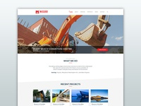 Builders Homepage Layout - Oblique lines