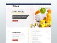 GoShapeUp - Landing Page for Fitness company