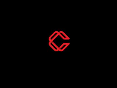C Mark c letter intertwined symbol logo squares illusion