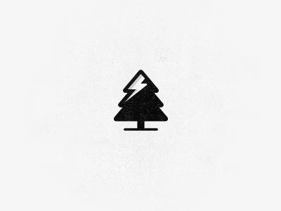 PineBolt bolt pine alpine tree snow thunder logo flash power nature