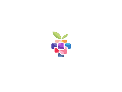 Appberry fruit logo colorful square app berry