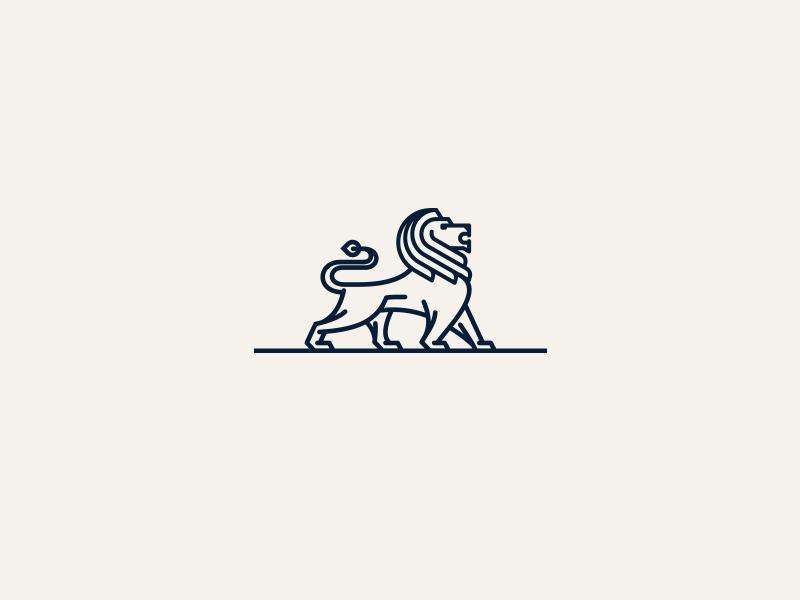 MagnaTrust Lion invest finance stance proud line symbol logo cat coat of arms lion