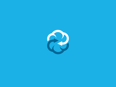 CloudExchange sky symbol logo arrows exchange cloud