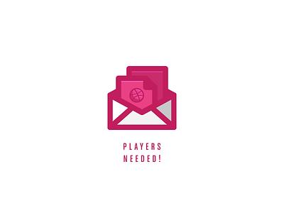 Invitation basketball ball envelope message need player invitation invites dribbbble