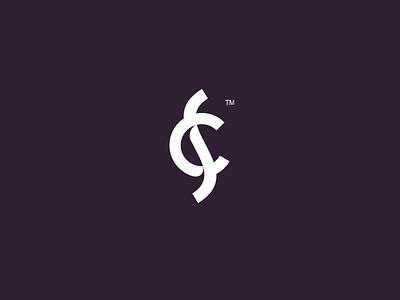SC monogram  interconnected brandmark initials symbol logo sexy monogram sc