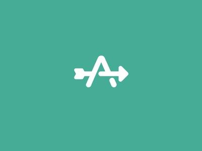 Arrow logo monogram archery symbol a letter arrow