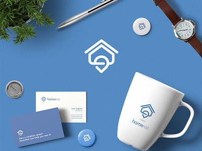 HomeRez brandmark logo pin house holiday rental reservation home