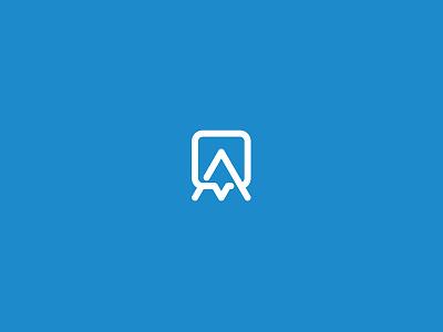 Appademic school letter monogram connect social chat a academic application