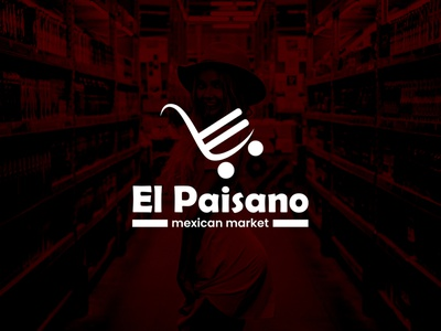 El Paisano Logo flat minimal icon typography vector branding ui logo illustration design