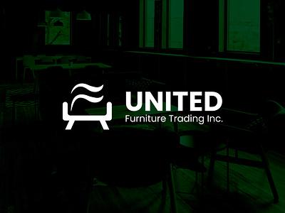 United Furniture Logo illustrator vector ui minimal logo illustration flat icon design branding