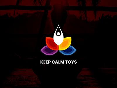 Keep Calm Toys Logo illustrator vector ui minimal logo illustration icon flat design branding