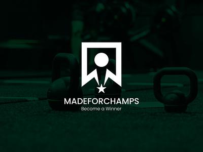 Madeforchamps Logo illustrator vector ui minimal logo illustration icon flat design branding