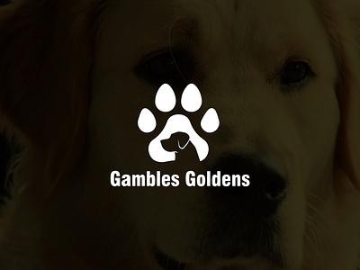 Gambles Goldens Logo illustrator vector ui minimal logo illustration icon flat design branding