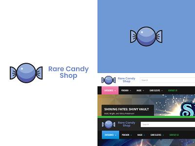 Rare Candy Shop Logo ux vector ui minimal logo illustration flat icon design branding