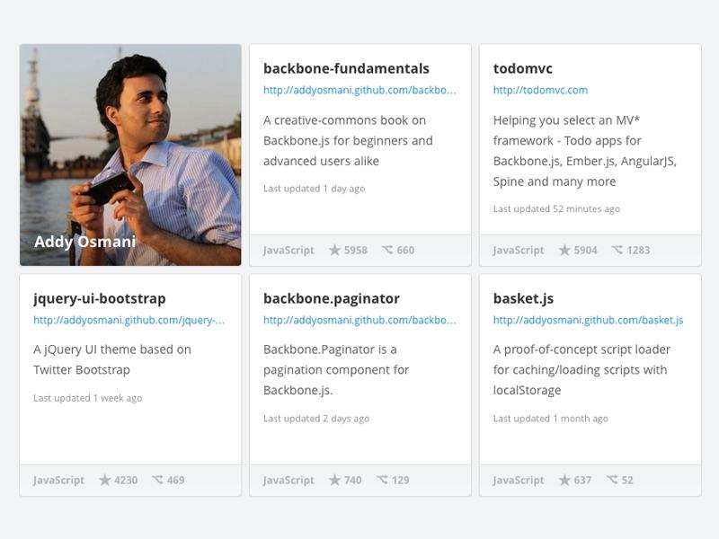 Github Showcase github widget javascript opensource showcase