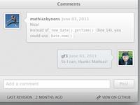 Comments UI