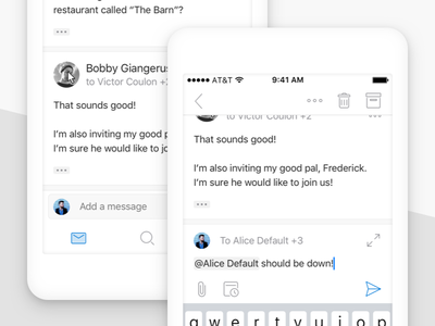 Redesigned Conversations in Outlook for iOS reply quick thread conversation mail outlook ios