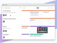 Le Roadmap project management microsoft react web tool desktop app productivity calendar roadmap