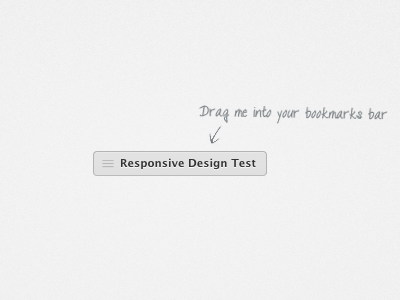 Responsive Design Bookmarklet css responsive bookmarklet freebie