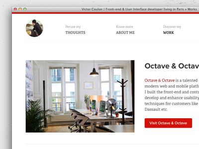 New Website clean white css portfolio work
