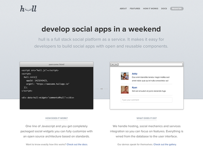 Hull New Homepage homepage code css3 animation developer plugin jquery social apps