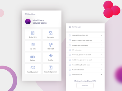 Mindshare Servicing Apps uxdhaka ux concept design web ui landing page servicing service app