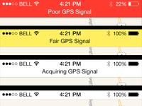 GPS Status Bar