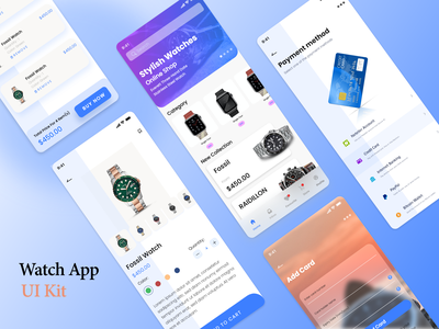 Stylish Watches minimal interface workout ux ui ux mobile clean ios sport design training fitness exercise gym app activity wellness tracker app sport health trainer app
