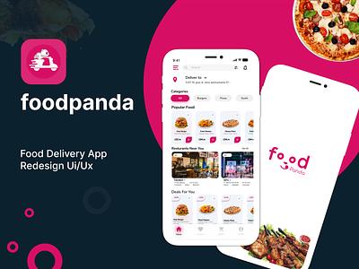 Food Delivery App uiux redesign food delivery food delivery app pizza restaurant food app food panda recipe app food order