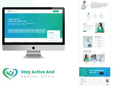 Doctor landing page branding ui landing page design health health care community online doctor white graphic design alpha doctors