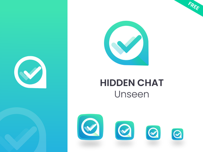 Unseen Chat Icon vector design branding chat messenger whatsapp icon design logo app icon icon chat icon
