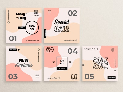 Instagram Post Template Design abstract bundle feed brand layout background ui app typography banner social media brochure flyer graphic design icon illustration template design vector branding