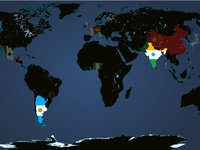 Interactive Map About American Football Around the World